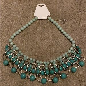 Beautiful teal bead necklace